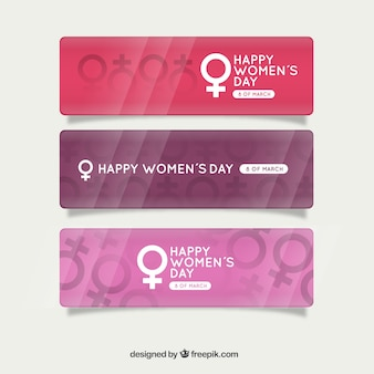 Woman symbol banners pack