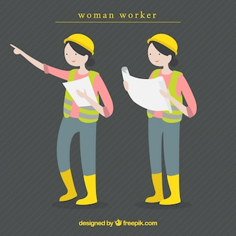 Woman worker illustration