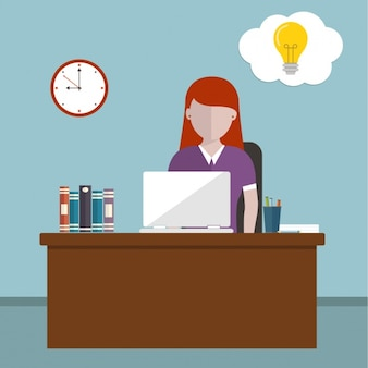 Woman working background