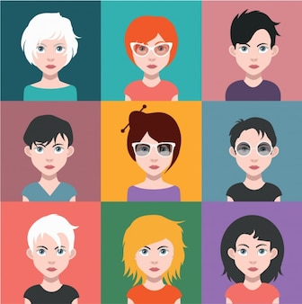 Women avatars collection