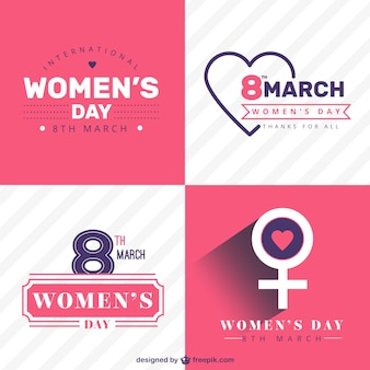 Women Day Insignias Collection