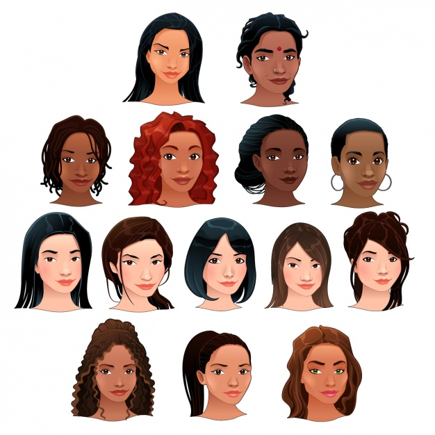 Women heads collection