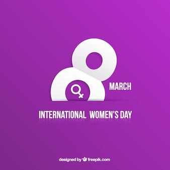 Women's Day card in purple background