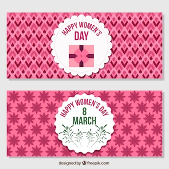 Women's day ornamental banners