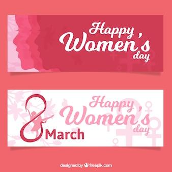 女性の日のピンクのバナー