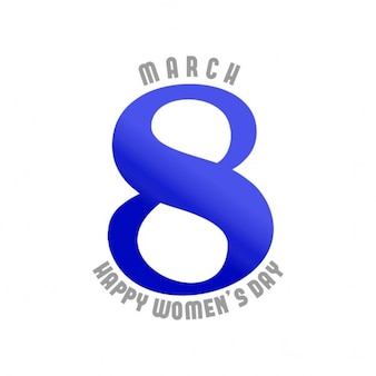 Women's day, white and blue background