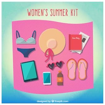 女性の夏のキット