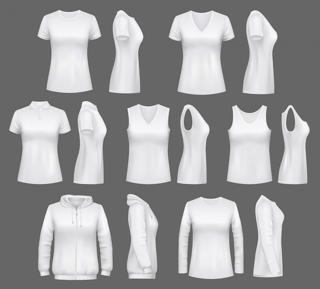 Women white tank top t-shirts, sportswear