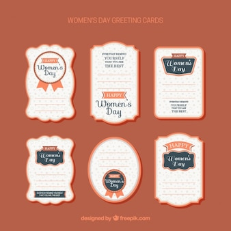 Womens day greetin card collection