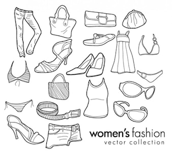 Womens Fashion Doodles