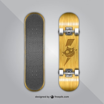 Wood skateboard design