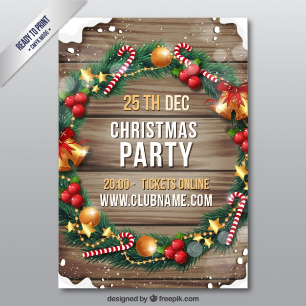 Wooden christmas flyer