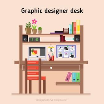Wooden designer desk