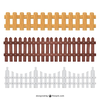 Wooden fences collection