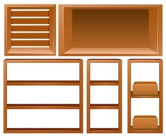 木製の棚とフレーム