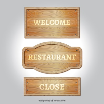 Wooden signs pack