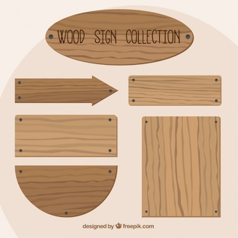 Wooden signs with nails