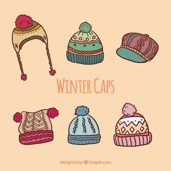 ウールの冬の帽子