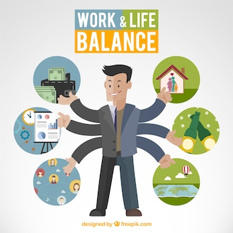 Work and life balance illustration