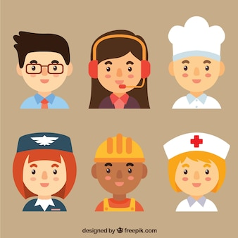 Workers avatars with lovely style