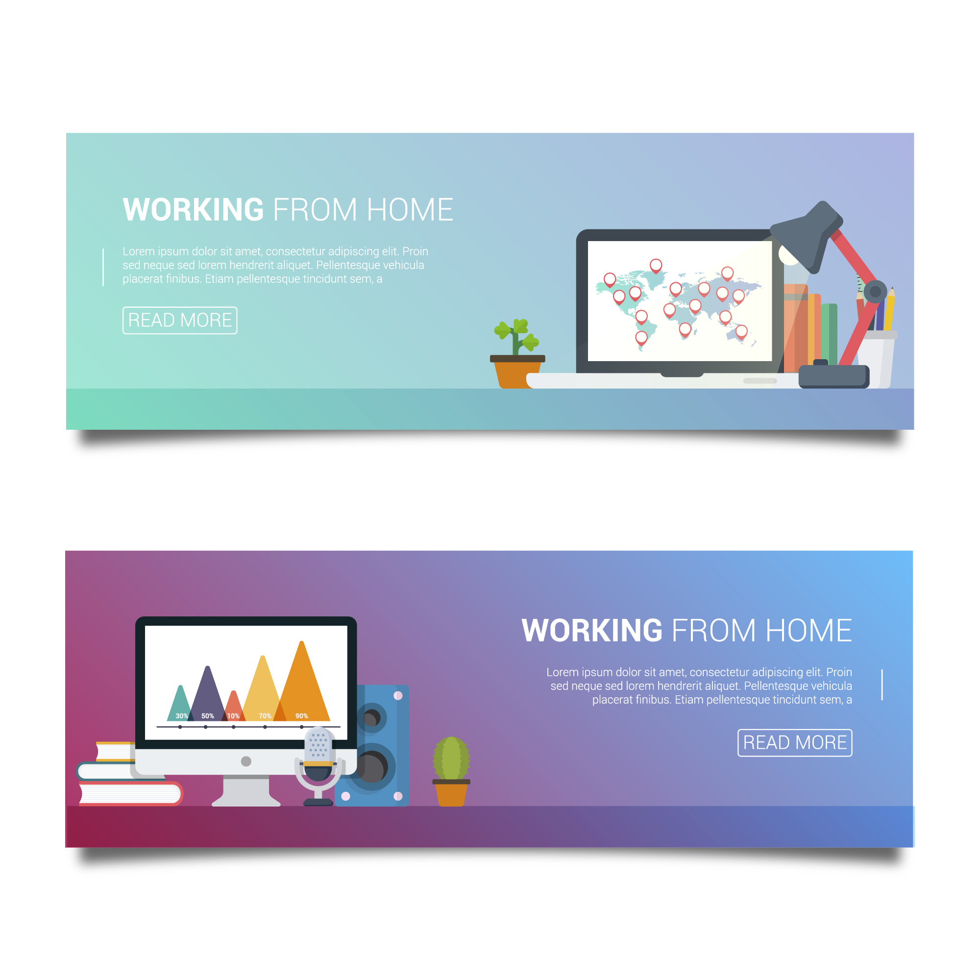 Workplace banners set