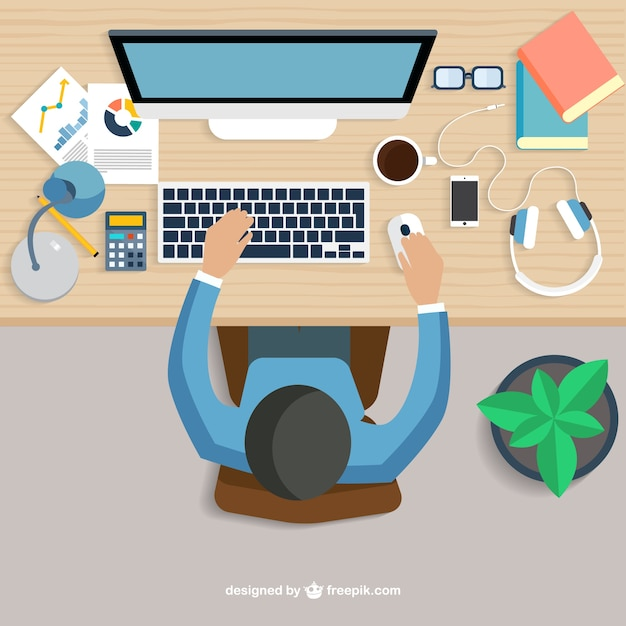 Workplace Vectors, Photos and PSD files | Free Download