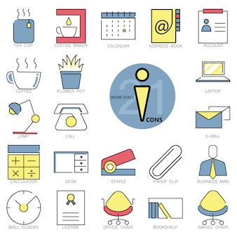Workspace icons collection