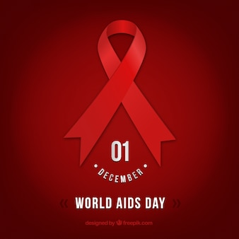 World Aids Day Red Background