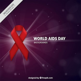 World aids day with bokeh background