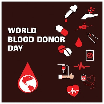 World blood donor day infographic elements