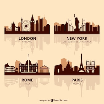 World capitals skyline