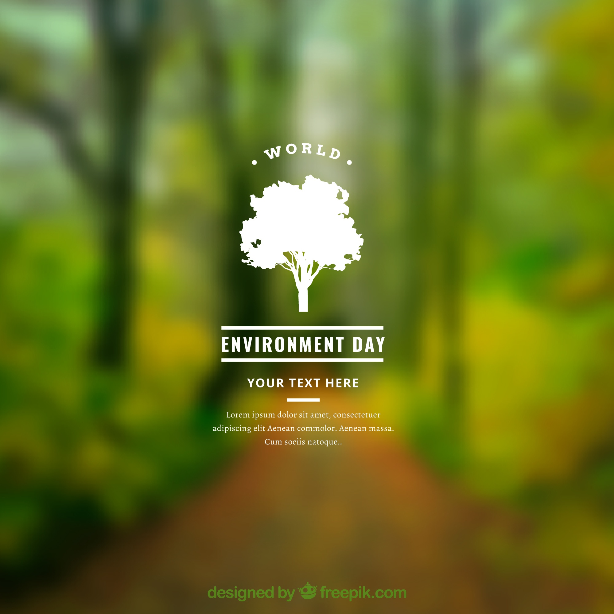 World environment day background with blurred effect