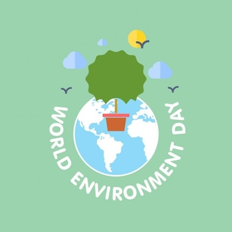 World environment day with a tree
