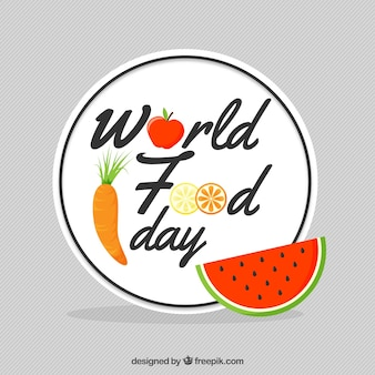 World food day background with a slice of watermelon