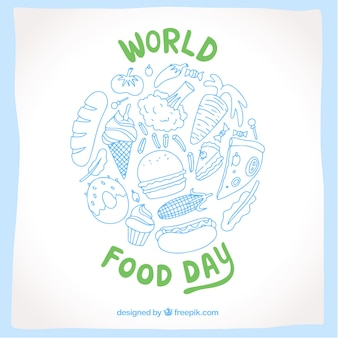 World food day in blue and green