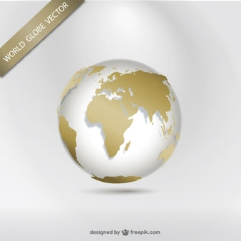 World globe vector continent