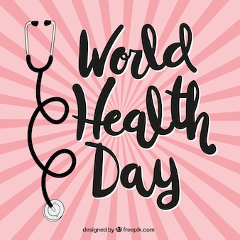 World health day sunburst background