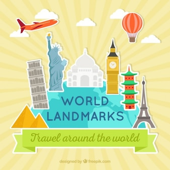 World landmarks stickers