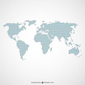 世界地図ドットテンプレート