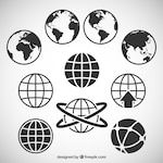 World map icons