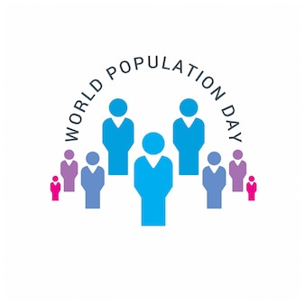 World population day design with people