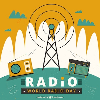 World radio day geometric background
