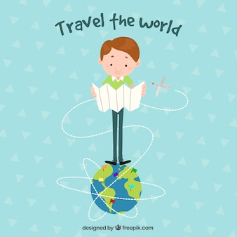 World tourism day, a traveler