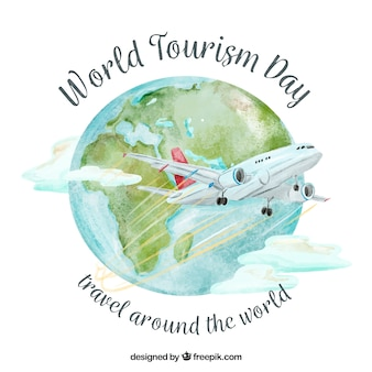 World tourism day, travel by plane