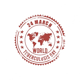 World tuberculosis day, stamp with a map