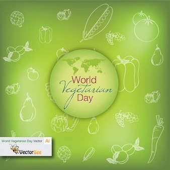 World vegetarian day with fresh background