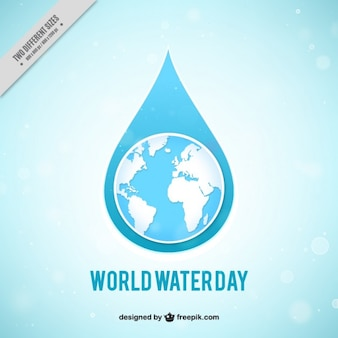 World Water Day background in bokeh style