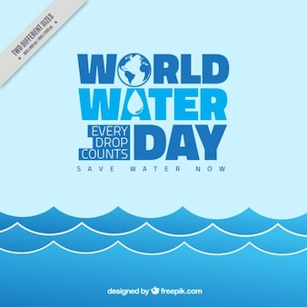 World Water Day blue waves background