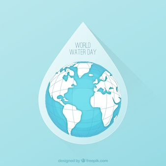 World water day drop