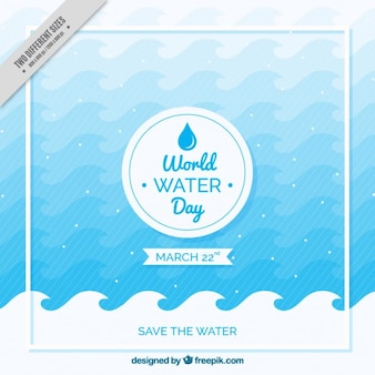 World water day wave background